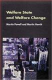 Welfare State and Welfare Change 9780335205172