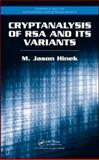 Cryptanalysis of RSA and Its Variants, Hinek, M. Jason, 1420075187