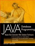 Java Database Programming, Brian Jepson, 0471165182