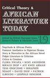 Critical Theory and African Literature Today, Jones, Marjorie, 0852555199