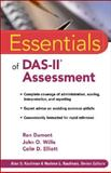 Essentials of DAS-II Assessment, Dumont, Ron and Willis, John O., 0470225203