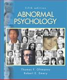 Abnormal Psychology, Oltmanns, Thomas F. and Emery, Robert E., 0131875213