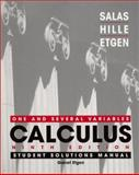 Student Solutions Manual to accompany Calculus : One and Several Variables, Salas, Satunino L. and Hille, Einar, 0471275212