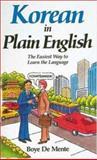 Korean in Plain English, Boye De Mente, 0844285218