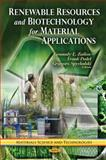 Renewable Resources and Biotechnology for Material Applications, Zaikov, G. E. and Pudel, D. P., 1612095216
