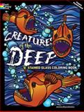 Creatures of the Deep Stained Glass Coloring Book, Jessica Mazurkiewicz and Coloring Books Staff, 0486485234