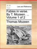 Fables in Verse by T Mozeen, Thomas Mozeen, 114069524X