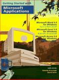 Microsoft Applications : Microsoft Word 6.0 for Windows, Microsoft Excel 5.0, Russakoff, Sylvia and Wiley and Sons, Inc. Staff, 0471165247