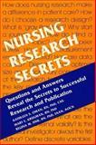 Nursing Research Secrets, Oman, Kathleen S. and Krugman, Mary Elizabeth, 1560535245