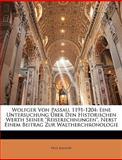 Wolfger Von Passau, 1191-1204, Paul Kalkoff, 1148715266