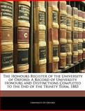 The Honours Register of the University of Oxford, , 114592526X