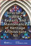 Structural Studies, Repairs and Maintenance of Heritage Architecture XII, C. A. Brebbia, L. Binda, 184564526X