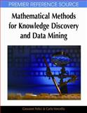 Mathematical Methods for Knowledge Discovery and Data Mining, Giovanni Felici and Carlo Vercellis, 1599045281
