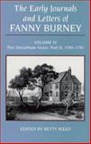 The Early Journals and Letters of Fanny Burney, 1780-1781, Rizzo, Betty W. and Burney, Fanny, 0773505296