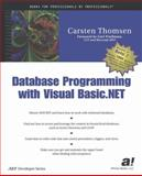 Database Programming with Visual Basic .NET, Thomsen, Carsten, 1893115291