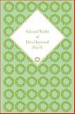 Selected Works of Eliza Haywood, Pettit, Alex, 1851965297
