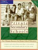 Private Secondary Schools 2002, Peterson's Guides Staff, 0768905311