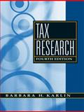 Tax Research, Karlin, Barbara H., 013601531X