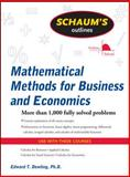 Schaum's Outline of Mathematical Methods for Business and Economics, Dowling, Edward and Dowling, Edward T., 0071635327