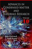 Advances in Condensed Matter and Materials Research 9781612095332