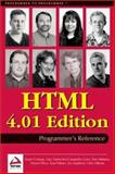 HTML 4.01 Programmer's Reference, WROX Author Team, 1861005334
