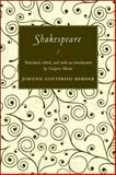 Shakespeare, Herder, Johann Gottfried, 0691135355
