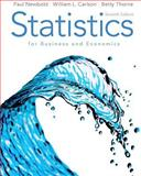 Statistics for Business and Economics, Newbold, Paul and Carlson, William, 0136085369