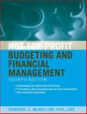 Not-for-Profit Budgeting and Financial Management, McMillan, Edward J., 0470575417