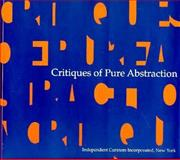 Critiques of Pure Abstraction, Rosenthal, Mark, 0916365433