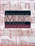 Anthology of Music for Analysis, Kostka, Stefan and Graybill, Roger, 0130915440