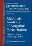 Algebraic Analysis of Singular Perturbation Theory, Kawai, Takahiro and Takei, Yoshitsugu, 0821835475