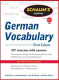 Schaum's Outline of German Vocabulary, Weiss, Edda and Schmitt, Conrad J., 0071615474