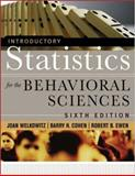 Introductory Statistics for the Behavioral Sciences, Welkowitz, Joan and Cohen, Barry H., 0471735477
