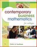 Contemporary Business Mathematics for Colleges, Brief Edition (with CD-ROM), Deitz, James E. and Southam, James L., 0324595476