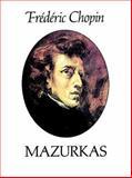 Mazurkas, Frédéric Chopin, 0486255484