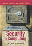 Security in Computing, Pfleeger, Charles P. and Pfleeger, Shari Lawrence, 0130355488