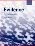 Evidence : Text and Materials, Durston, Gregory, 0199215480