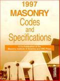 Masonry Codes and Specifications Handbook, 1997, Chrysler, John and Escobar, Thomas, 0849375495