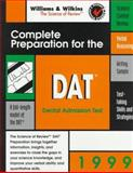 Complete Preparation for the DAT, 1999 : Dental Admission Test, Betz, 0683305506