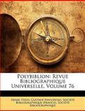Polybiblion, Henri Stein, 114855551X