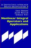 Nonlinear Integral Operators and Applications, Bardaro, Carlo and Musielak, Julian, 3110175517