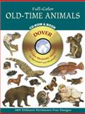 Full-Color Old-Time Animals CD-ROM and Book, Dover Staff, 0486995526