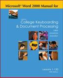 Microsoft Word 2000 Manual for Gregg College Keyboarding and Document Processing, Ober, Scot and Johnson, Jack E., 0073045586