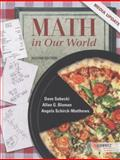 Math in Our World, Sobecki, Dave and Bluman, Allan G., 0078035597