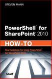 Powershell for Sharepoint 2010, Mann, Steven, 067233559X