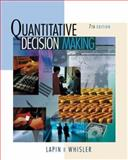 Quantative Decision Making with Spreadsheet Application, Lapin, Lawrence and Whisler, William D., 0495015601