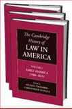 The Cambridge History of Law in America 3 Volume Paperback Set, , 1107665620