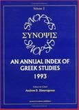 Synopsis : Annual Index of Greek Studies, 1993, Andrew D. Dimarogonas, 9057025620