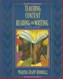 Teaching Content Reading and Writing, Ruddell, Martha Rapp, 0205265634