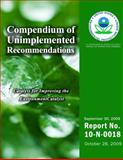 Compendium of Unimplemented Recommendations As of September 2009, U. S. Environmental Agency, 1499735634